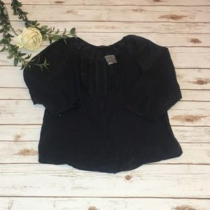 The Limited black Shimmer Sheer Black blouse -S